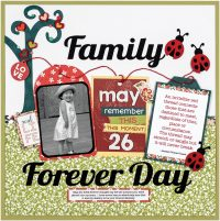 Family Forever Day by VIrginia Nebel - Scrapbook & Cards Today Spring 2018