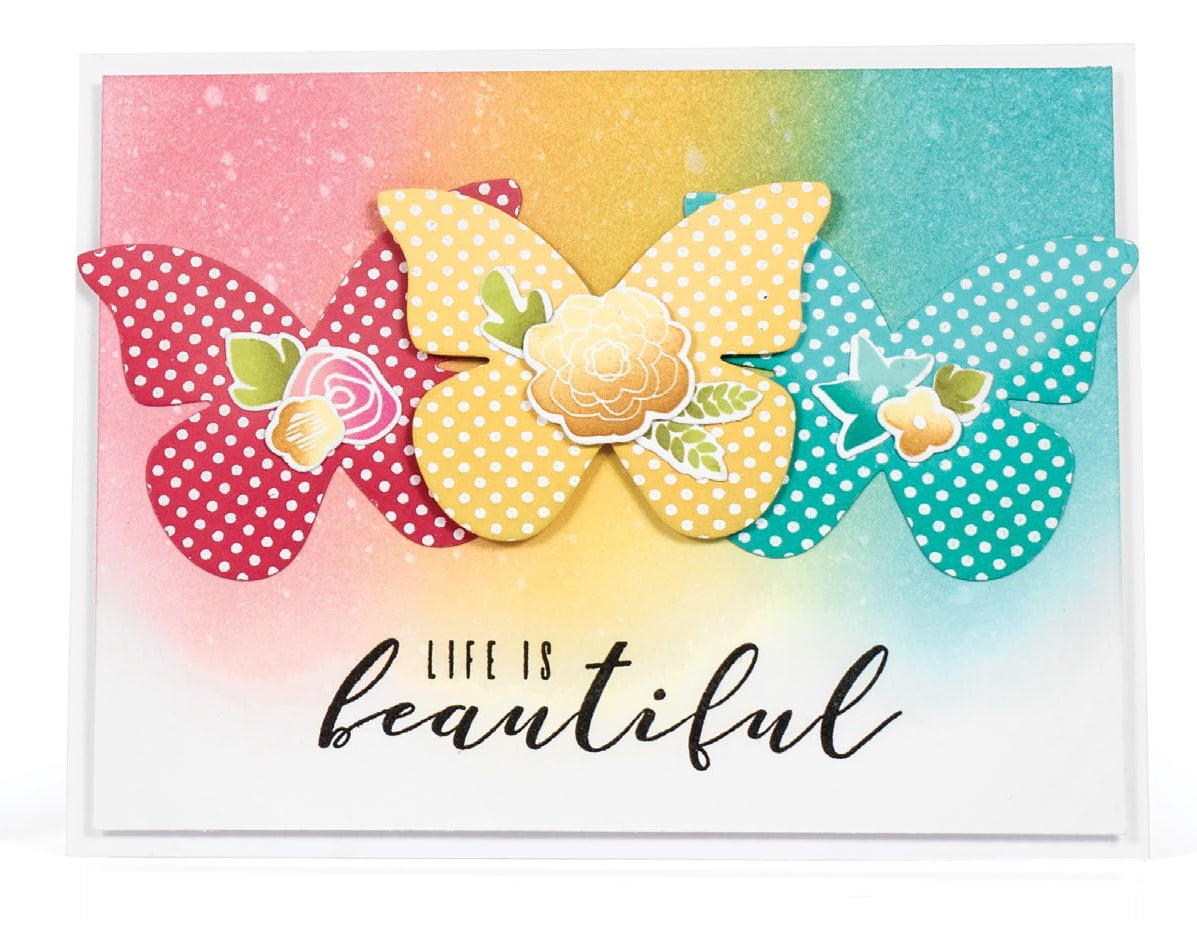 Life is Beautiful card by Laurie Schmidlin - Scrapbook & Cards Today Spring 2018