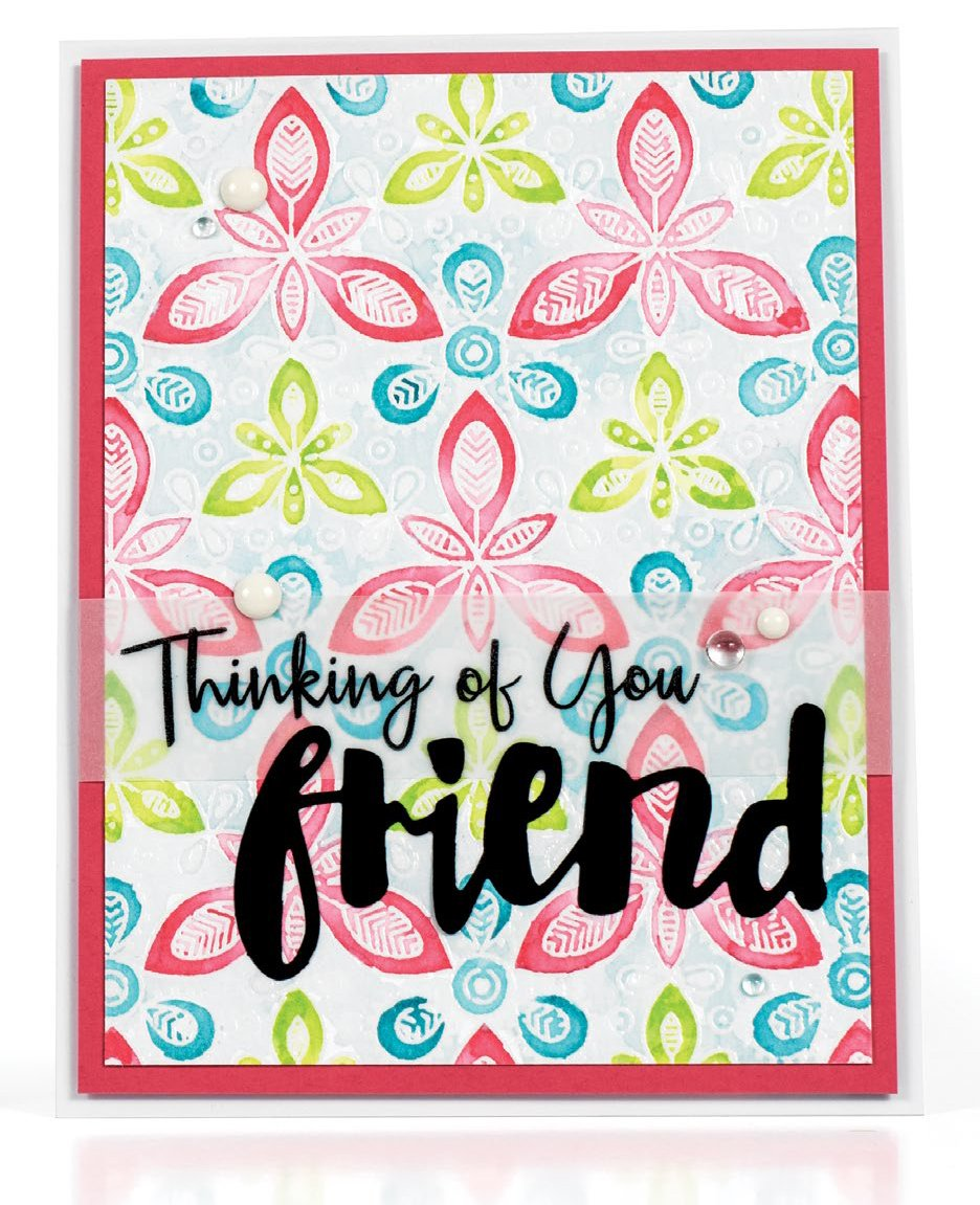Thinking of You Friend card by Wanda Guess - Scrapbook & Cards Today Spring 2018