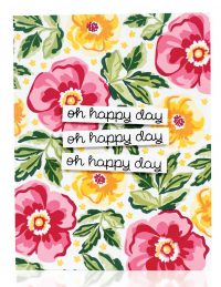 Oh Happy Day card by Yana Smakula - Scrapbook & Cards Today Spring 2018