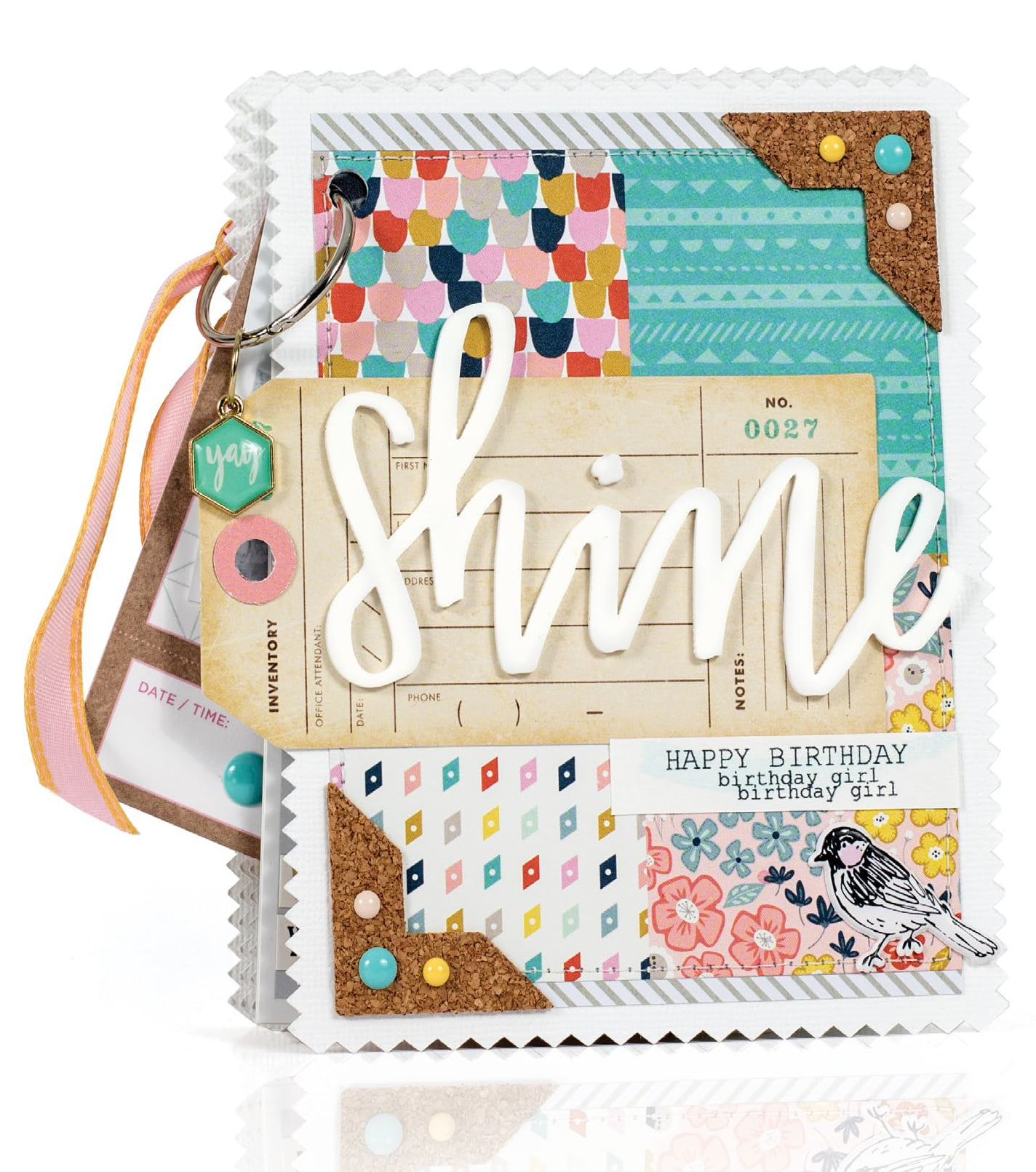 Shine mini album by Sheri Reguly - Scrapbook & Cards Today Spring 2018