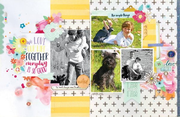 We Love Our Life Together by Kim Watson - Scrapbook & Cards Today Spring 2018