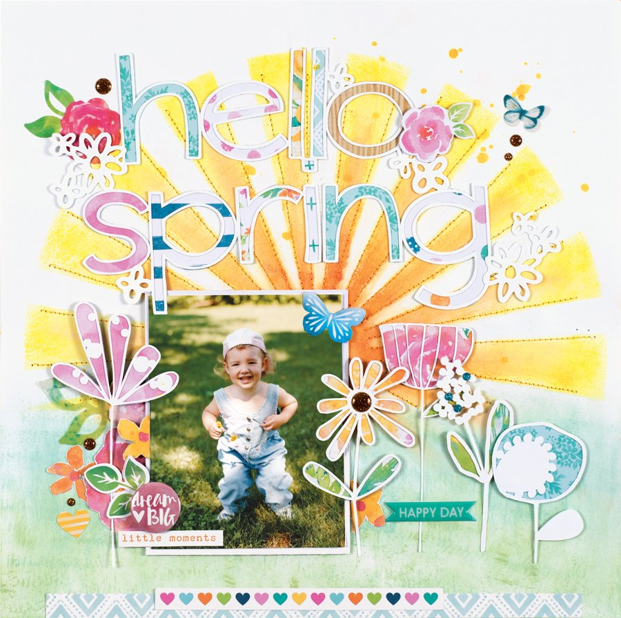 Hello Spring by Marcia Dehn-NIx - Scrapbook & Cards Today Spring 2018