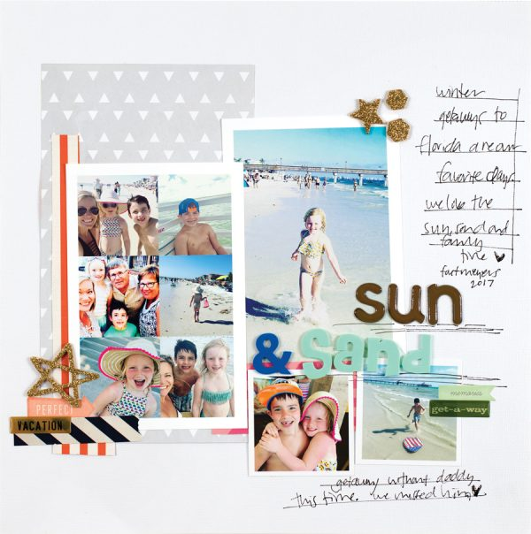 Sun and Sand by Meg Barker - Scrapbook & Cards Today Spring 2018