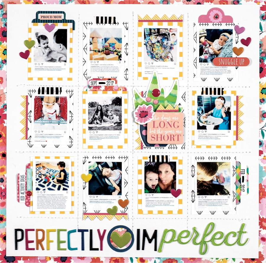 Perfectly Imperfect by Stephanie Buice - Scrapbook & Cards Today Spring 2018