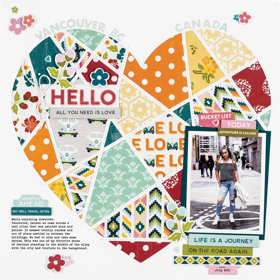 Vancouver, BC by Summer Fullerton - Scrapbook & Cards Today Spring 2018