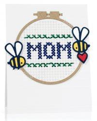 Cross-stitch Mom card by Jill Dewey Hawkins - Scrapbook & Cards Today Spring 2018