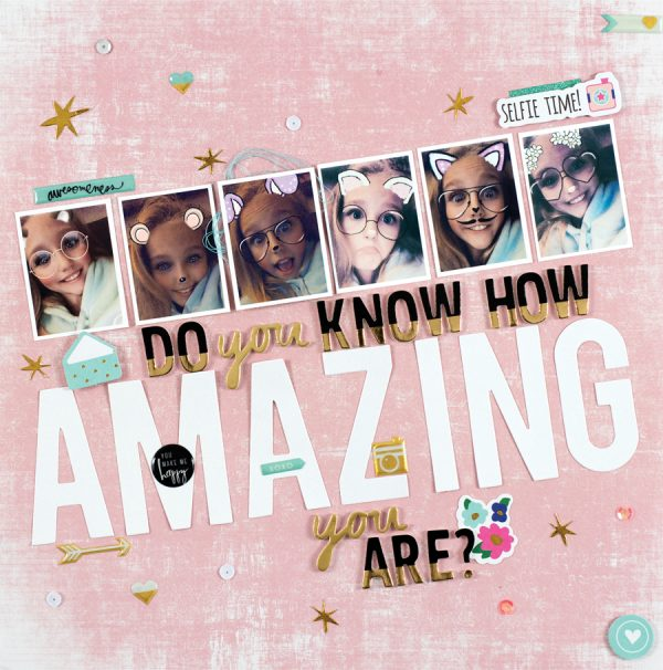 Amazing by Tammy Ziolkowski - Scrapbook & Cards Today Spring 2018