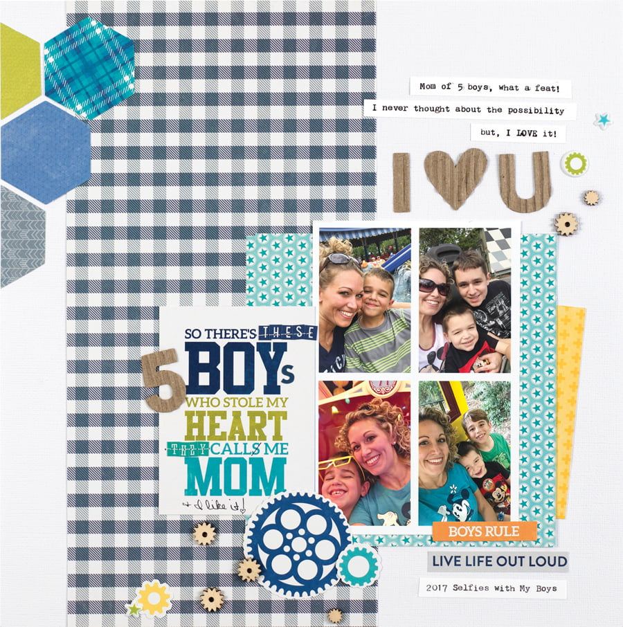 These 3 Boys by Wendy Antenucci - Scrapbook & Cards Today Spring 2018
