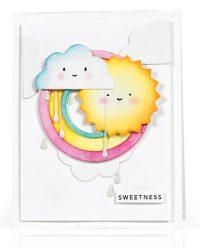 Rainbow Sweetness card by Debi Adams - Scrapbook & Cards Today Spring 2018