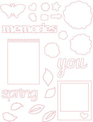 Spring 2013 Crop & Create: Delivered Kit Cut File Bonus