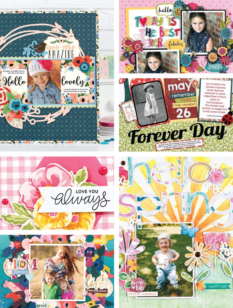 Scrapbook & Cards Today Spring 2018 Issue collage