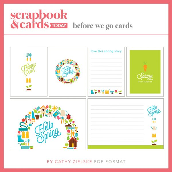 Spring Journaling Card Set - Scrapbook & Cards Today Spring 2018