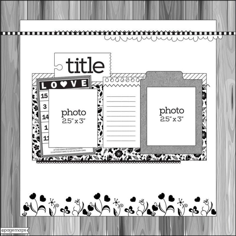 PageMaps sketch - Scrapbook & Cards Today magazine Spring 2018