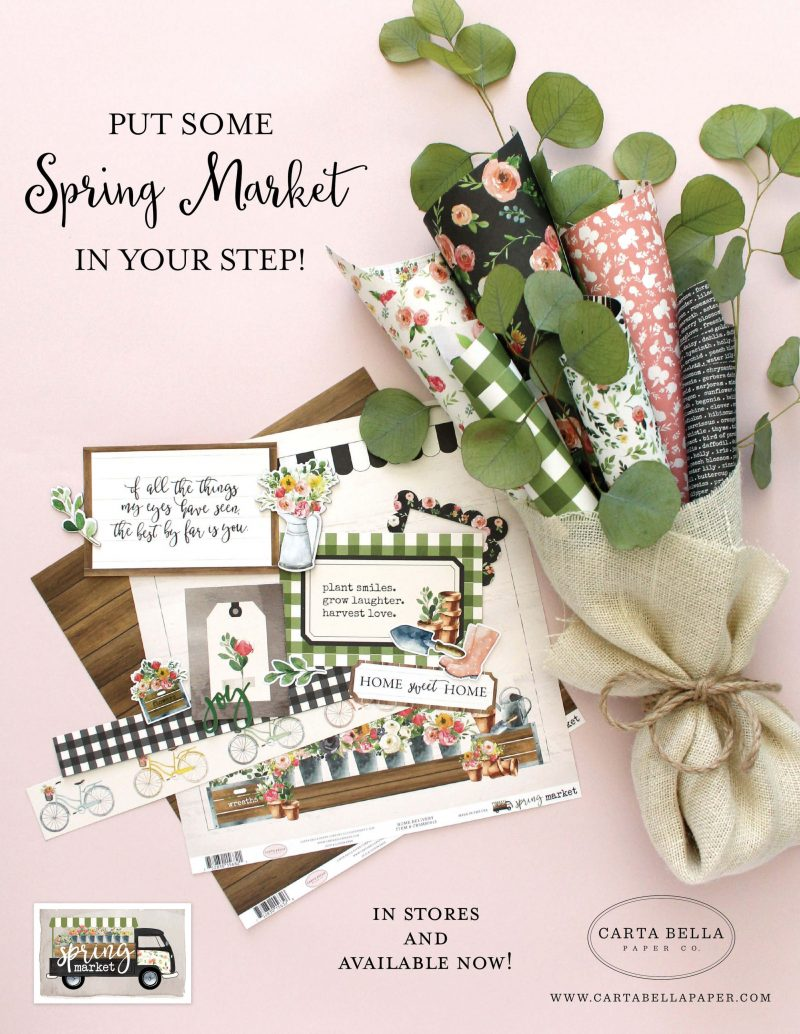 Carta Bella Paper Advertisement - Scrapbook & Cards Today Spring 2018