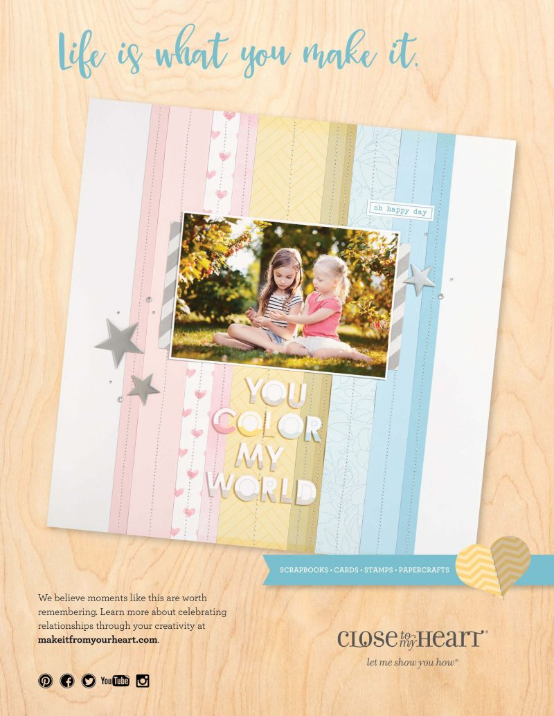Close To My Heart Advertisement - Scrapbook & Cards Today Spring 2018