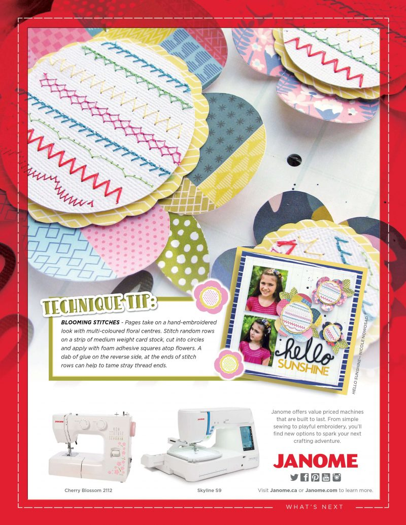 Janome Advertisement - Scrapbook & Cards Today Spring 2018