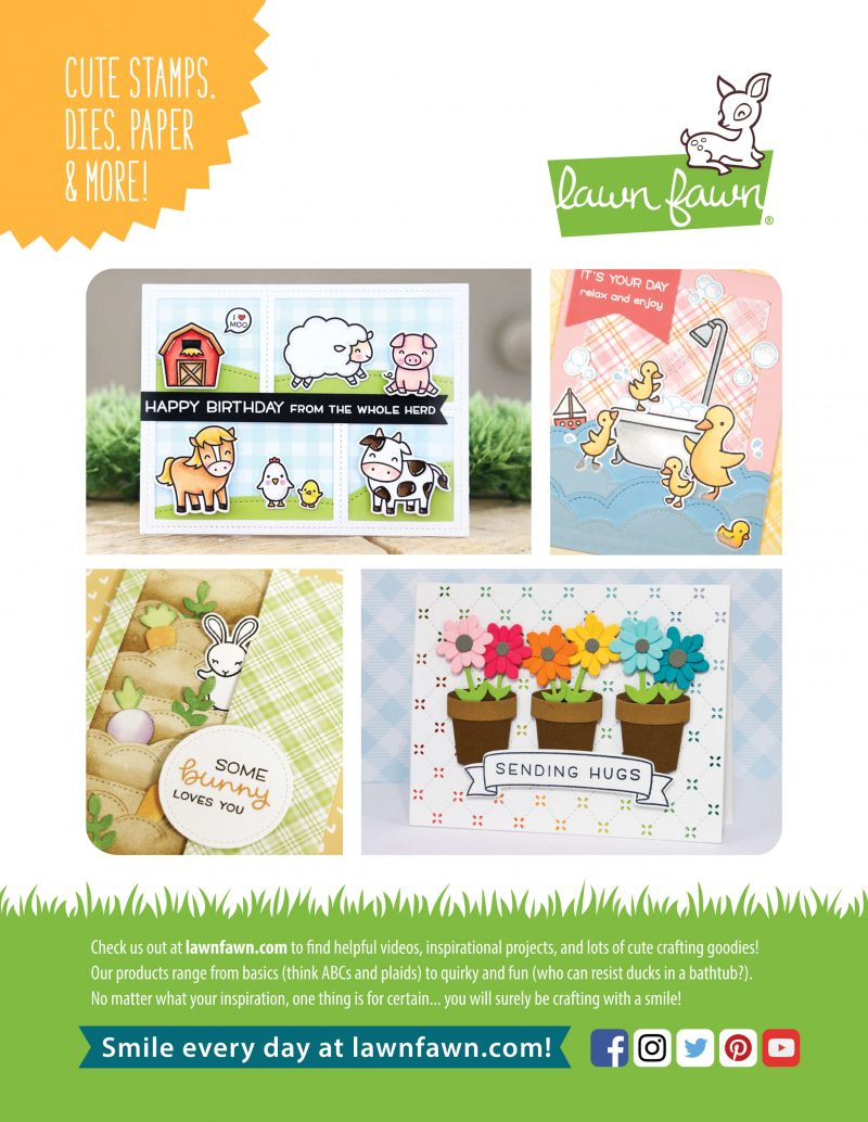 Lawn Fawn Advertisement - Scrapbook & Cards Today Spring 2018