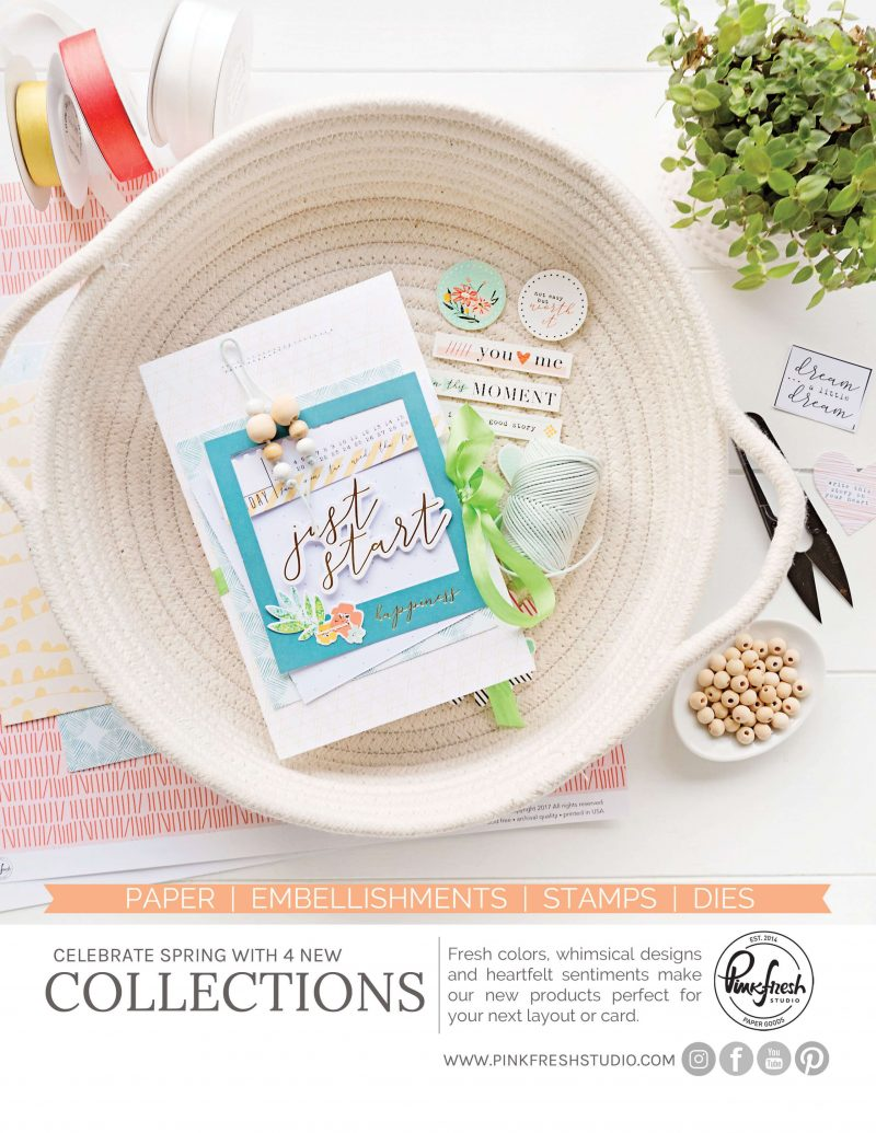 Pinkfresh Studio Advertisement - Scrapbook & Cards Today Spring 2018