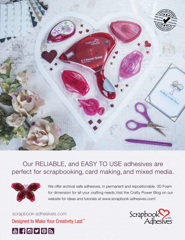 Scrapbook Adhesives Advertisement - Scrapbook & Cards Today Spring 2018