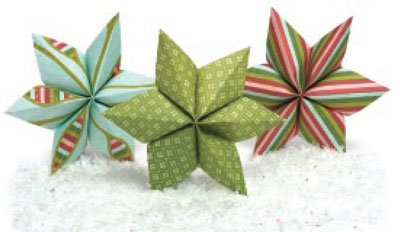 six-pointed paper stars by Lori Tyndall