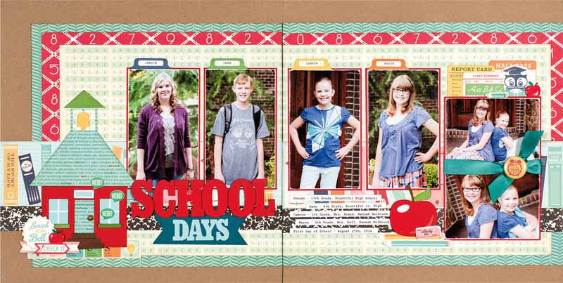 School Days by Jana Eubank for Scrapbook & Cards Today - Fall 2016