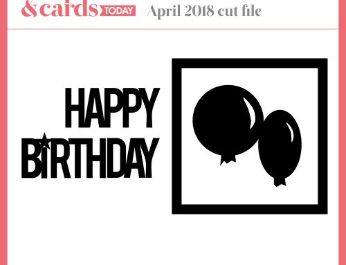 A FREE birthday cut file from Nicole!