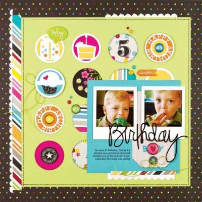 Birthday Boy by Kelly Goree for Scrapbook & Cards Today - Summer 2014 Issue