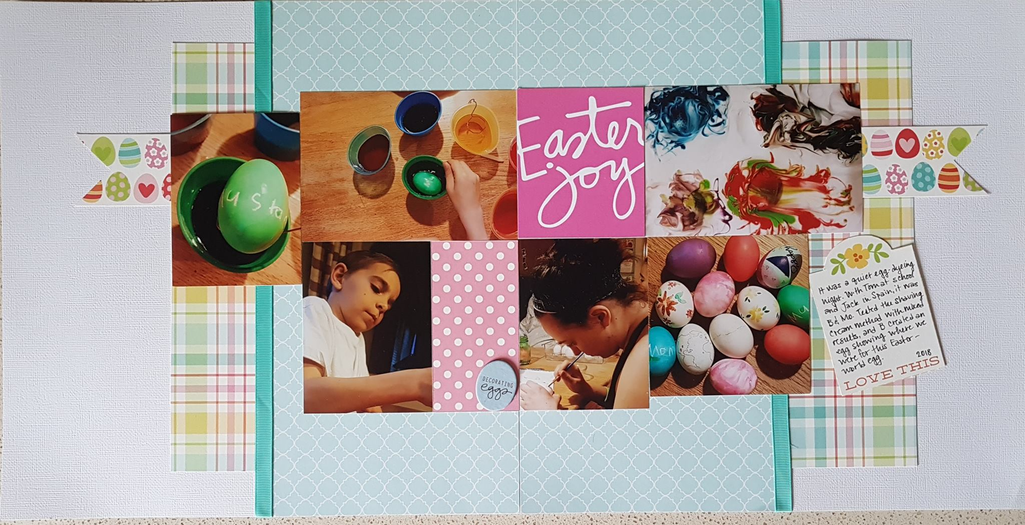 April Layout by Lori Scholz