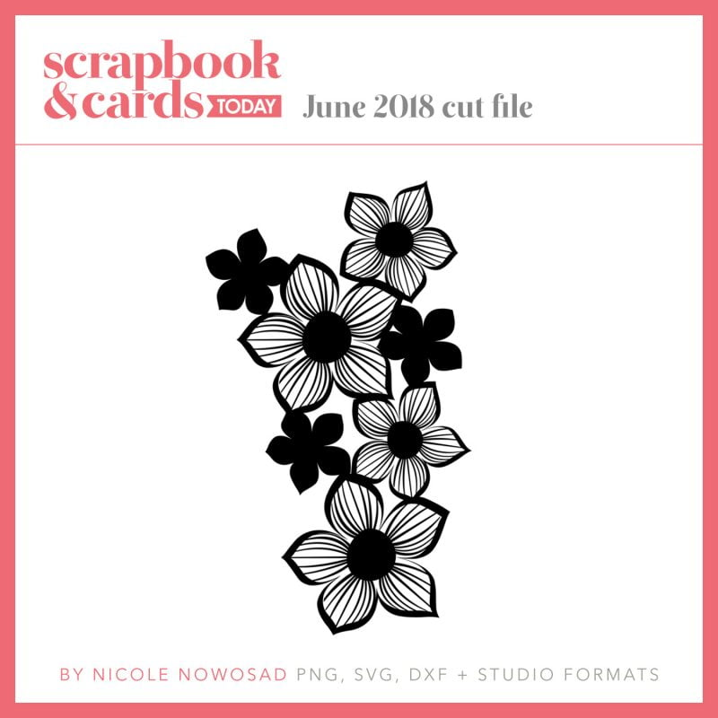 June free cut file from Nicole Nowosad