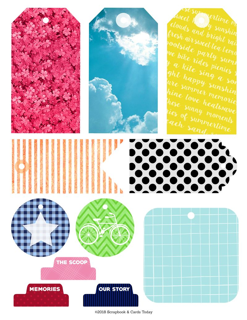 2018 Summer Picnics & Popsicles Scrapbook Kit Printables