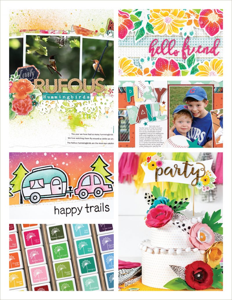 Scrapbook & Cards Today Summer 2018 Issue collage