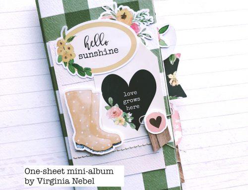 A one sheet mini album with Virginia Nebel!