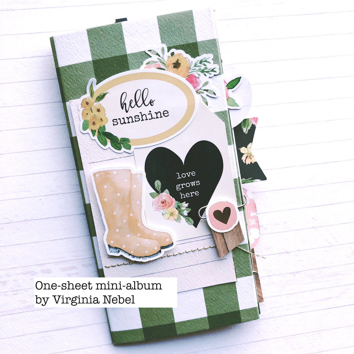 One sheet mini album by Virginia Nebel for Scrapbook & Cards Today magazine