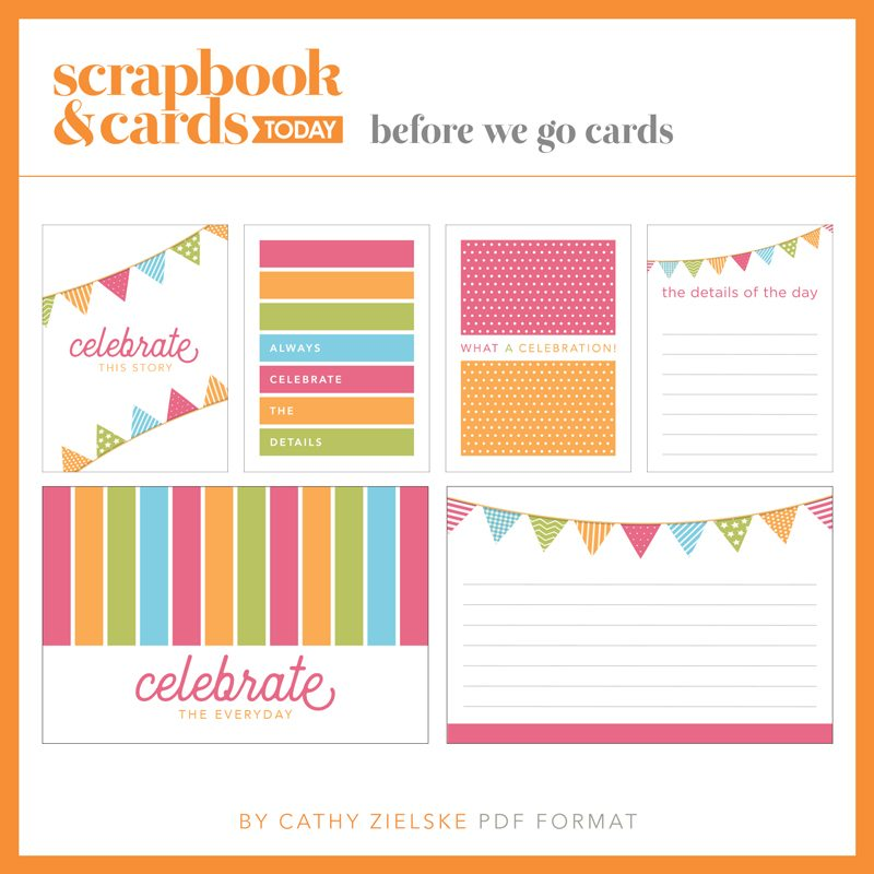 SCT Summer 2018 Journaling Card Set