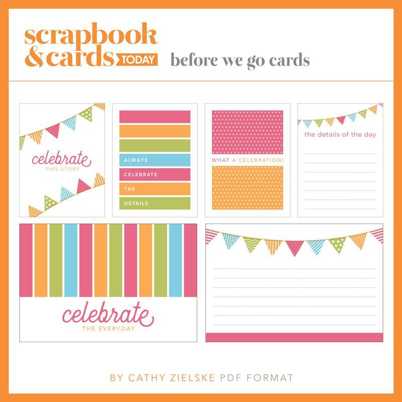 SCT Summer 2018 Journaling Card Set