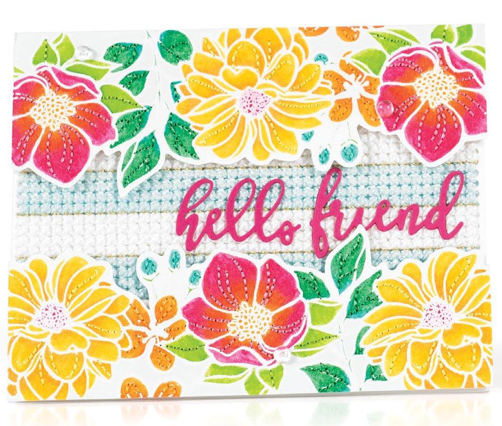 SCT Summer 2018 - Hello Friend card by Leigh Houston
