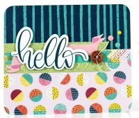 SCT Summer 2018 - Hello card by Sheri Reguly