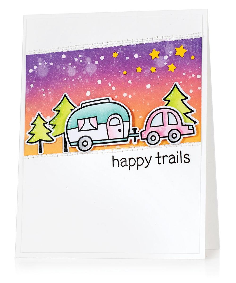 SCT Summer 2018 - Happy Trails card by Jill Dewey Hawkins