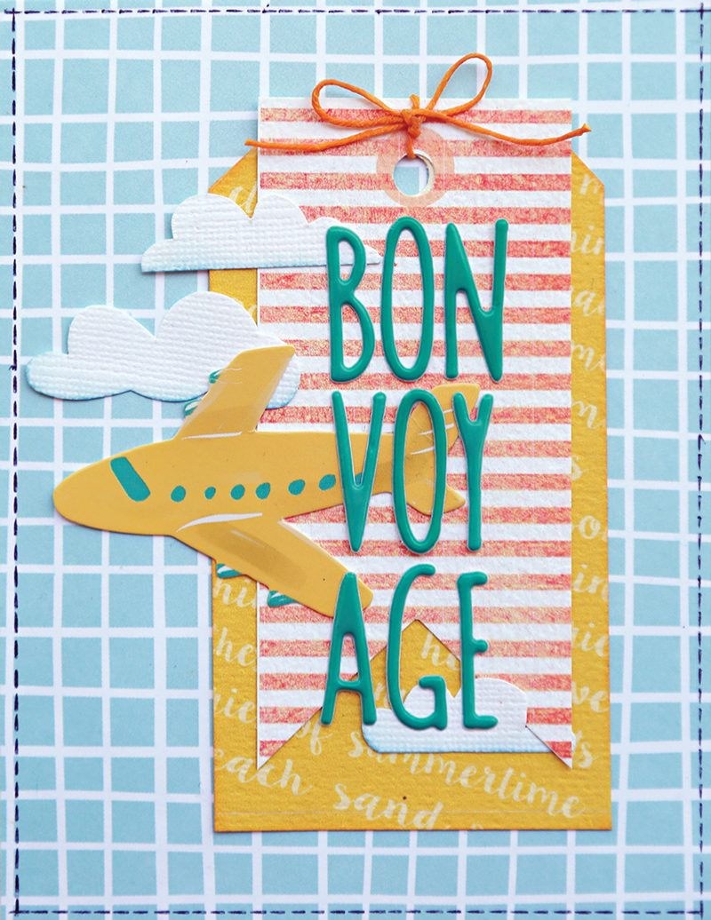 SCT Delivered - Picnics & Popsicles Scrapbook Kit - Bon Voyage card by Kelly Goree
