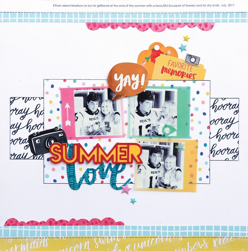SCT Delivered - Picnics & Popsicles Scrapbook Kit - Summer Love Layout by Kelly Goree