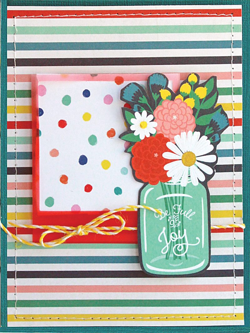 SCT Delivered - Picnics & Popsicles Scrapbook Kit - Full of Joy card by Lisa Dickinson