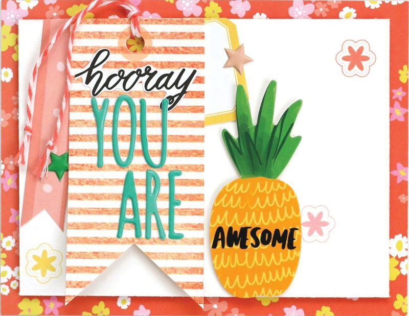 SCT Delivered - Picnics & Popsicles Scrapbook Kit - You Are Awesome card by Meghann Andrew