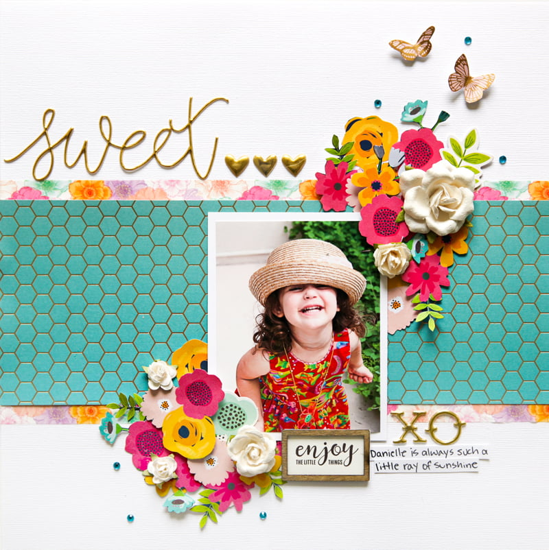 Sweet layout by Stacy Cohen for Scrapbook and Cards Today