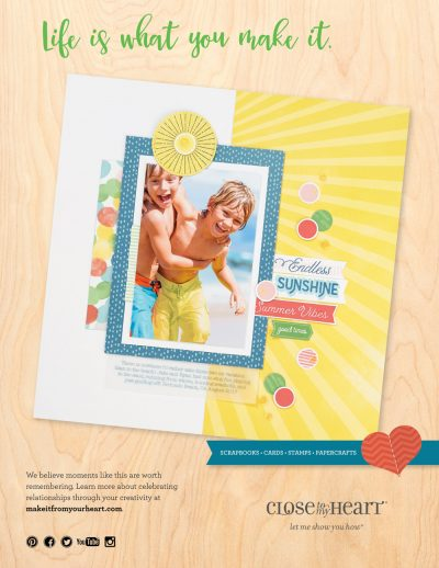 Close To My Heart Ad - Scrapbook & Cards Today Summer 2018 Issue