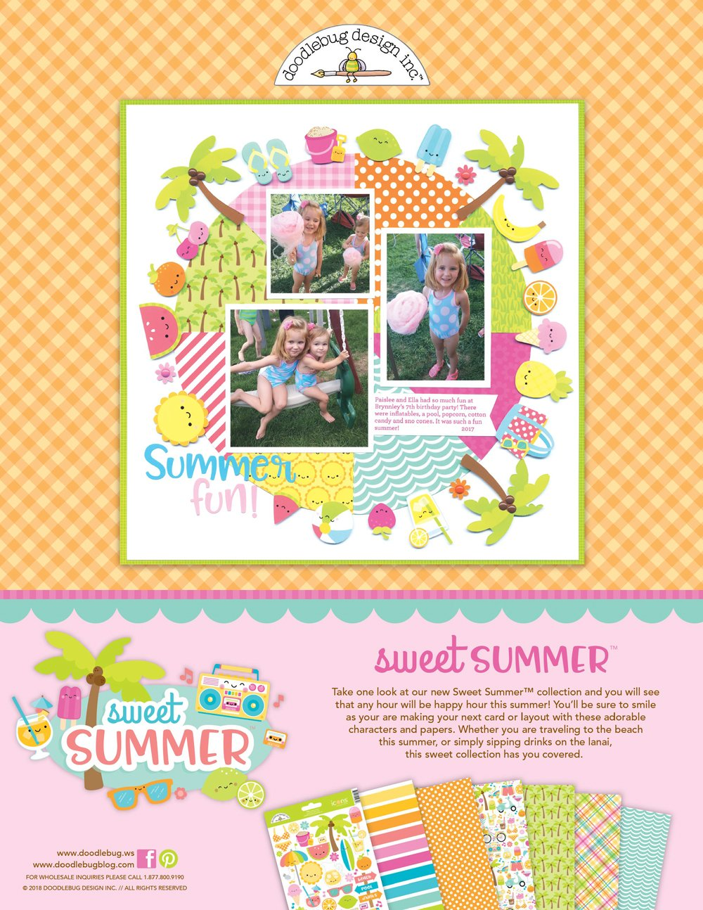 Doodlebug Design Ad - Scrapbook & Cards Today Summer 2018 Issue