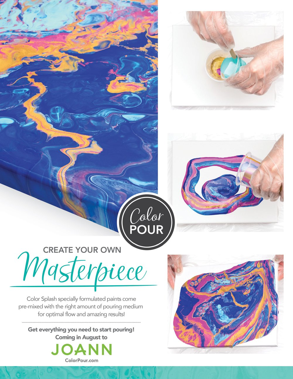 Joann Color Pour Ad - Scrapbook & Cards Today Summer 2018 Issue