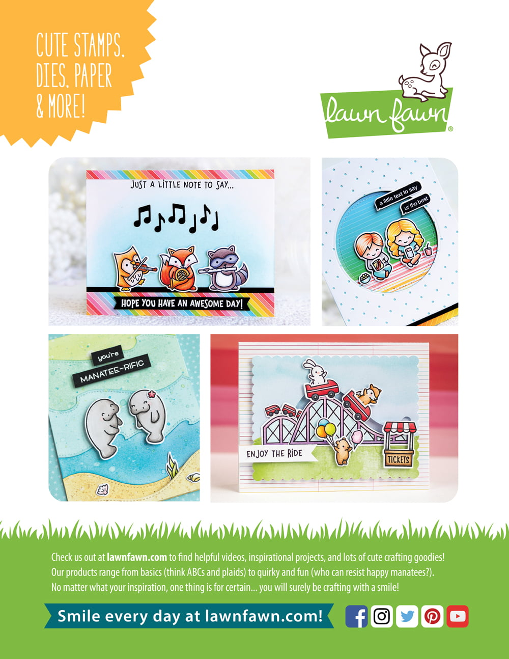 Lawn Fawn Ad - Scrapbook & Cards Today Summer 2018 Issue