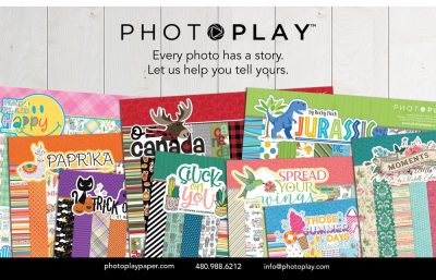 Photoplay Paper Ad - Scrapbook & Cards Today Summer 2018 Issue