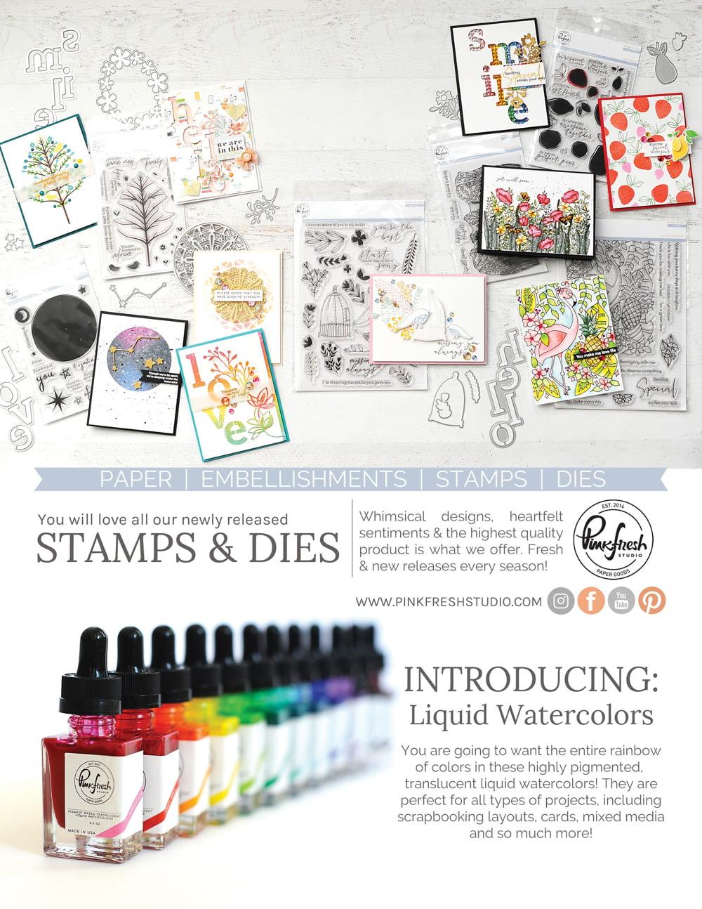 Pinkfresh Studio Ad - Scrapbook & Cards Today Summer 2018 Issue